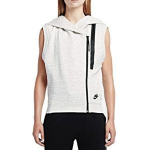 Nike Tech Fleece Cape Vest Hoodie Gray/Black M
